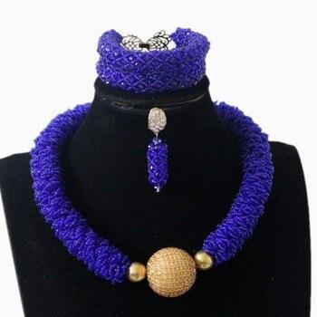 4UJewelry Fine Jewelry Set For Women Gold Big Balls African Nigerian Traditional Wedding Beads Crystal Bold Jewellery Set 2019