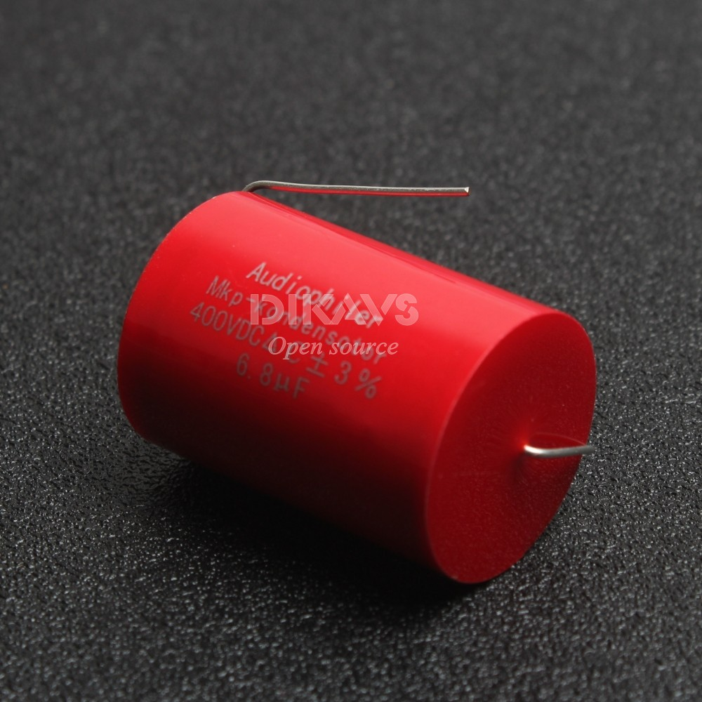 1pcs Audiophiler MKP 6.8UF 400V Audio Grade AXIAL Capacitor for Tube Guitar Amps