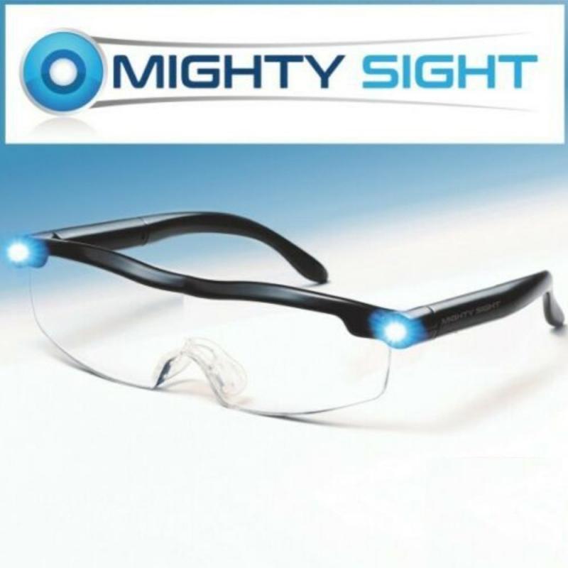 Mighty vista LED luce occhiali presbiopia lente di ingrandimento LED luminoso night vision Ingrandimento Occhiali Occhiali 160% di Ingrandimento