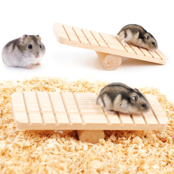 Pet Hamster Toys Wood Seesaw Funny Rat Mouse Chinchillas Guinea Pig Small Animal Toy Play House Exercise Toy Pet Supplies 1