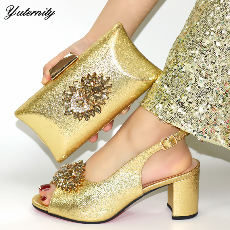 Italian Green Color Shoes And Bags Set For Evening Party African Summer Pumps Shoes And Matching Bag Set For Church Dress - 6