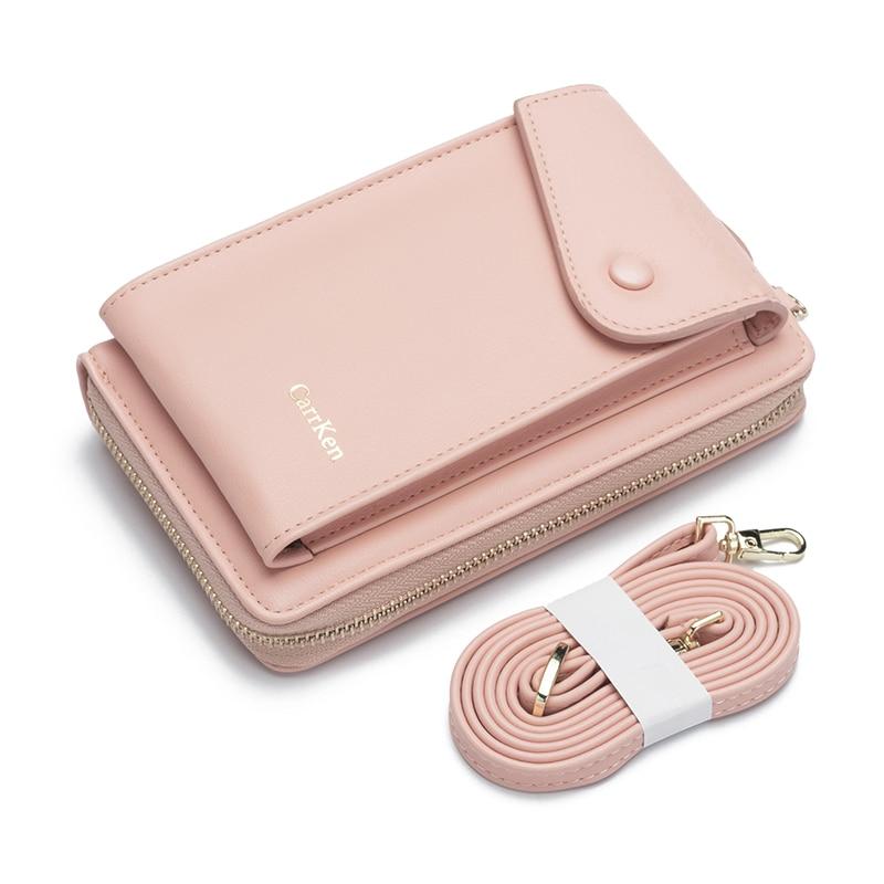Women's Wallet Korean Double-layer Stitching Mobile Phone Bag Multi-card Fashion Zipper Shoulder Bag  Hot Sale