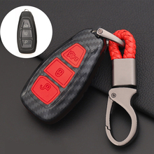 Carbon Fiber Style Remote Key Fob Shell Case Cover For Ford Focus MK3 MK4 Fiesta Mondeo Kuga Smart Control Key Keychain Holder