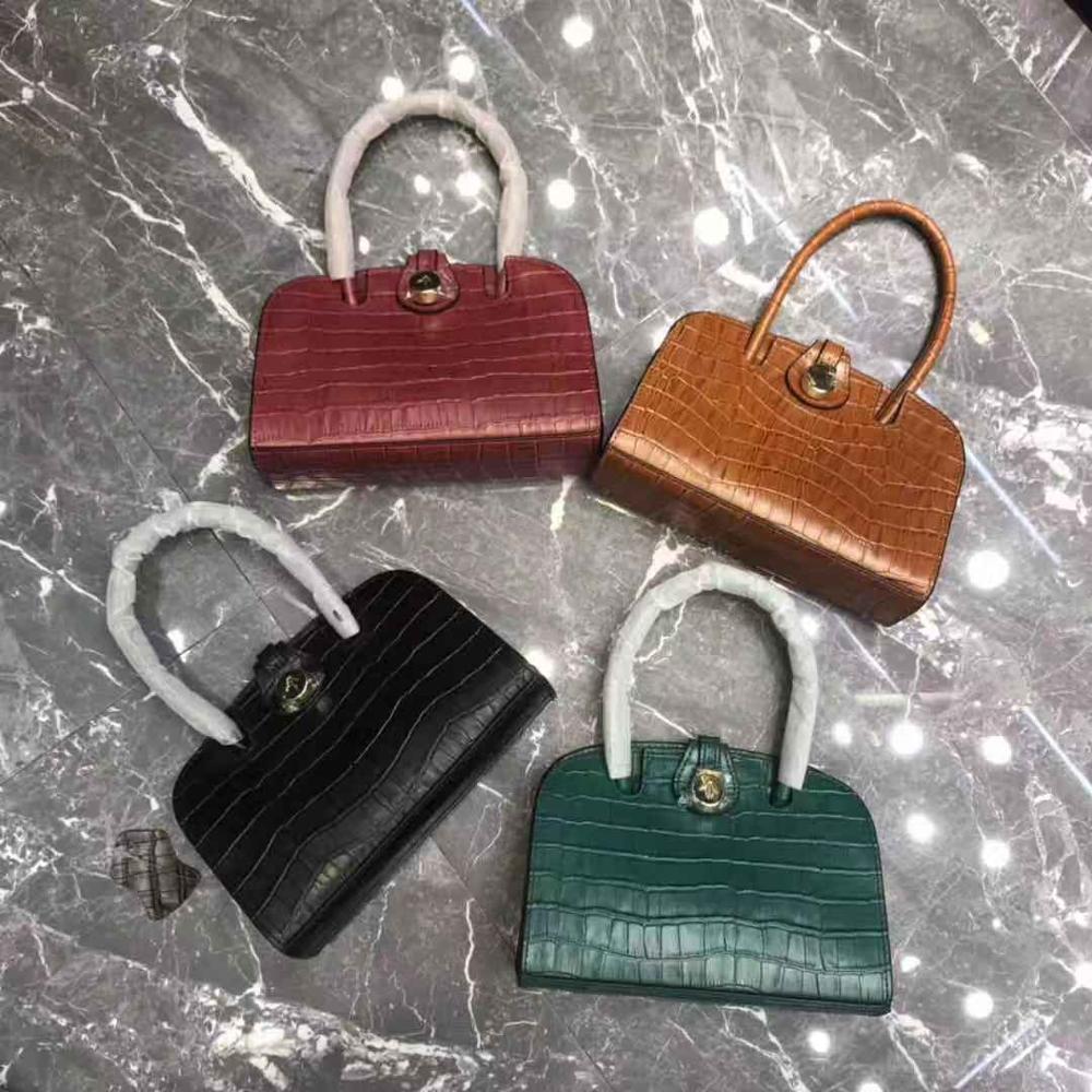 by H 2019 Arrow Head Small Shoulder Bag Women's Fashion Designer Mini Totebag Aligator Top handle Bag Luxury Croco Embossed