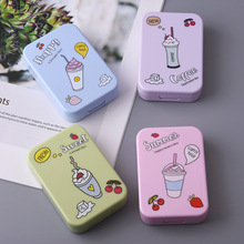 2 double boxes ice cream contact lens case with mirror Carto