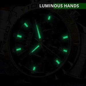 Image 5 - MEGIR мужские s часы лучший бренд класса люкс черные из нержавеющей стали бизнес Кварцевые часы мужские часы Relogio Masculino Erkek Kol Saati