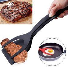 1 pçs multifuncional 2 em 1 não vara pão ovo turners cozinhar pinças gadgets para utensílios de cozinha espátula ferramenta de cozinha