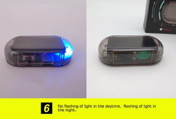 GM światło ostrzegawcze samochodu oświetlenie żarówki System bezpieczeństwa ostrzeżenie Anti-theft miga miga fałszywe słonecznego Alarm samochodowy światła samochodowe LED tanie i dobre opinie JOSHNESE CN (pochodzenie) Klimatyczna lampa Plastic black Blue red Can discourage burglaries into night time 1 * Alarm LED Light