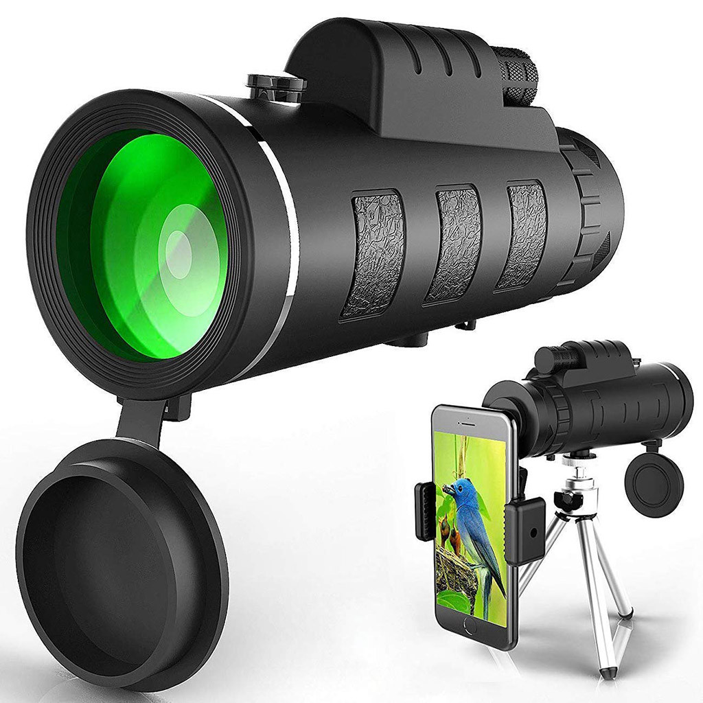 40X60 HD Portable Monocular Telescope Telephoto Lens Optical Prism Mobile Phone Camera Lens