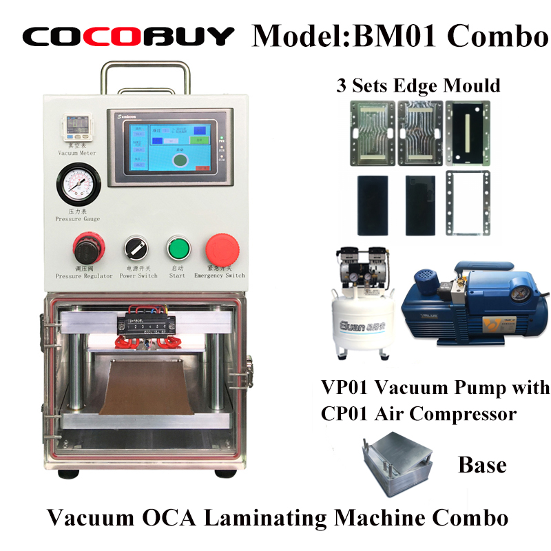 BM01 Vacuum Laminating Machine for iPhone Smausung Laminate Glass with OCA Polarizer LCD Laminator Repair Tool in Power Tool Sets from Tools