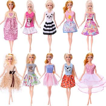 Barbie sukienka nadruk zwierzęta Design sukienka Casual odzież domowa dla 11 Cal 26-28Cm lalka Barbie ubrania Barbie na akcesoria nie lalka tanie i dobre opinie Tkanina CN (pochodzenie) MC12 Dziewczyny Moda Sukienka w stylu zachodnim Excluding Barbie Akcesoria dla lalek Barbie Clothes