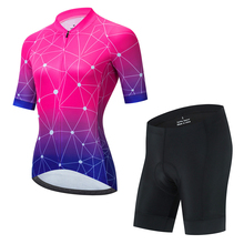 Summer women Cycling Jersey Short Sleeve Suit Bike Clothes MTB bike Ropa ciclismo Bicycle Uniforme Maillot Breathable 19D Pad