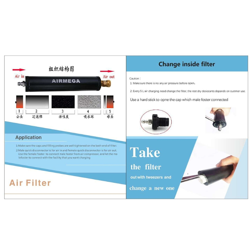 PCP Air Filter Compressor Oil-Water Separator High Pressure 40Mpa 300bar Pump