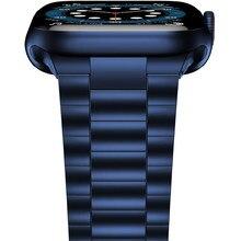 Pulseira de aço inoxidável para apple relógio banda 44mm 40mm 42mm 38mm ultra fino metal link pulseira iwatch série 6 se 5 4 3 pulseira