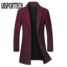 High Quality Mens Wool Blend Coat Autumn Winter New Solid Color Warm Men's Wool Jacket Luxurious Brand Clothing Long Trench Coat
