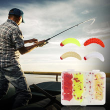 100Pcs Set 20MM Bread Fishing Lures hooks Bug Soft Bait Grub Glow Smell Hand Pole Lure Carp Worm Artificial Bait Fish Lures#p4(China)