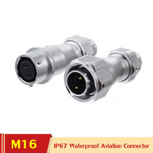 WY16 TE+ZE 2 3 4 5 7 9 10 Pin Waterproof Aviation Cable Connector AC DC Power Jack IP67 LED Lighting Strip M16 Wire Connectors
