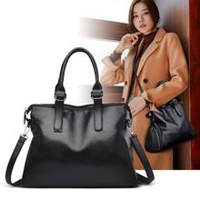 YILIAN Women Shoulder Bag Fashion Handbags Oil Wax Leather Large Capacity Tote Casual Pu women Messenger bag