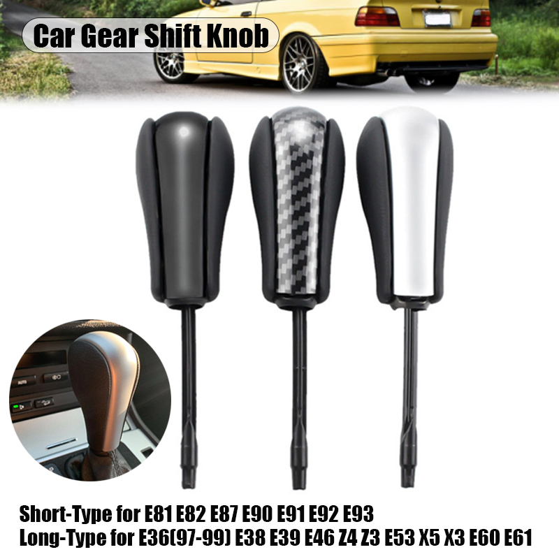 Black/Chrome/Carbon Car Auto styling Automatic vehicles Gear Shift Knob Stick Fit For <font><b>BMW</b></font> E46 <font><b>E60</b></font> E39 E83 E53 E61 3 <font><b>5</b></font> 7 X <font><b>Series</b></font> image