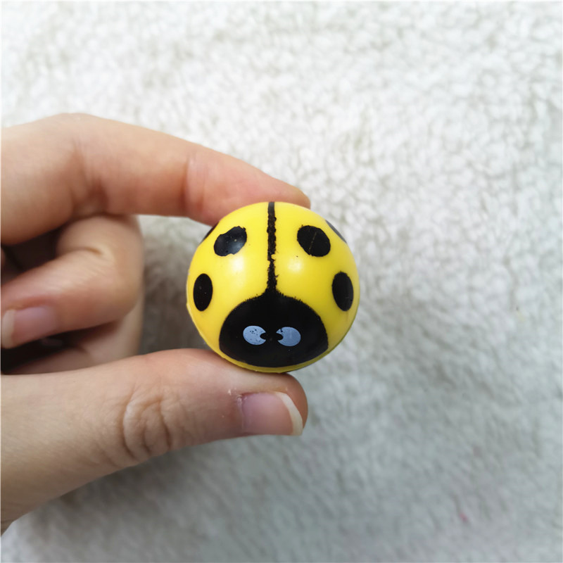 30mm 10pcs/lots Water Float Ball Toys Animals Ladybug Bouncing Ball Child Kids Elastic Rubber Ball Children Pinball Bouncy Toys