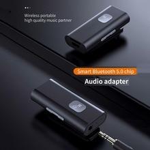 5,0 inalámbrico Adaptador de Audio Receptor de Bluetooth portátil AUX de 3,5mm Jack para altavoz auriculares