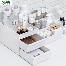 WBBOOMING Cosmetic Storage Box Drawer Desktopplastic Makeup Dressing Table Skin Care Rack House Organizer  Jewelry Container