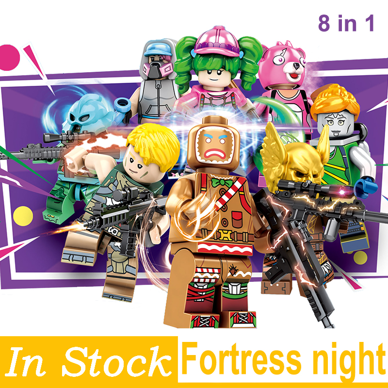 Fortress Night Model Building Blocks Bricks Educational Toys Children Gifts Toys Mini Dolls Christmas Gifts