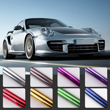 цена на Car Chrome Mirror Vinyl Film Wrapping Car Styling PVC Sticker Decal Motorcycle Car Wrapping 30x100cm