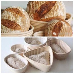 5PCS/Set Various Shapes Fermentation Rattan Basket Country Bread Baguette Dough Proofing Proving Baskets Mold
