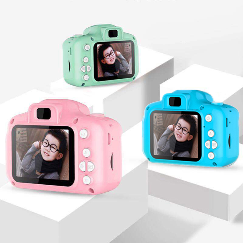2 Inch HD Screen Chargable Digital Mini Camera Kids Cartoon Cute Camera Educational Toys For Child Birthday Gift Game Study