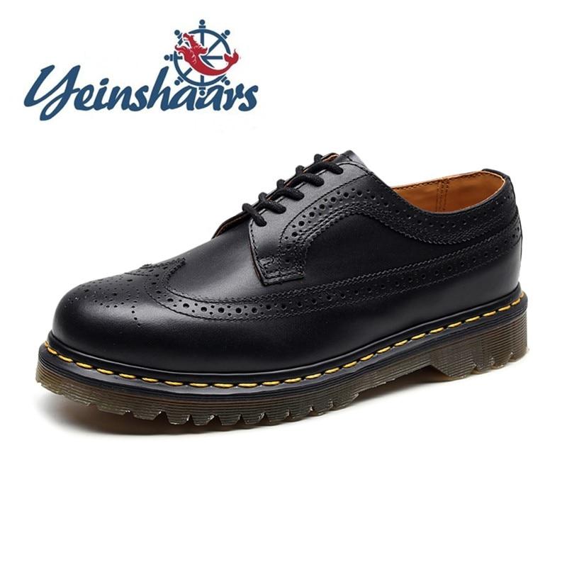 Mens Shoes Black Casual Leather Shoes Elegant  Comfortable Dress Shoes Spring Autumn Brogue Shoes Business Lace-Up Formal Shoes