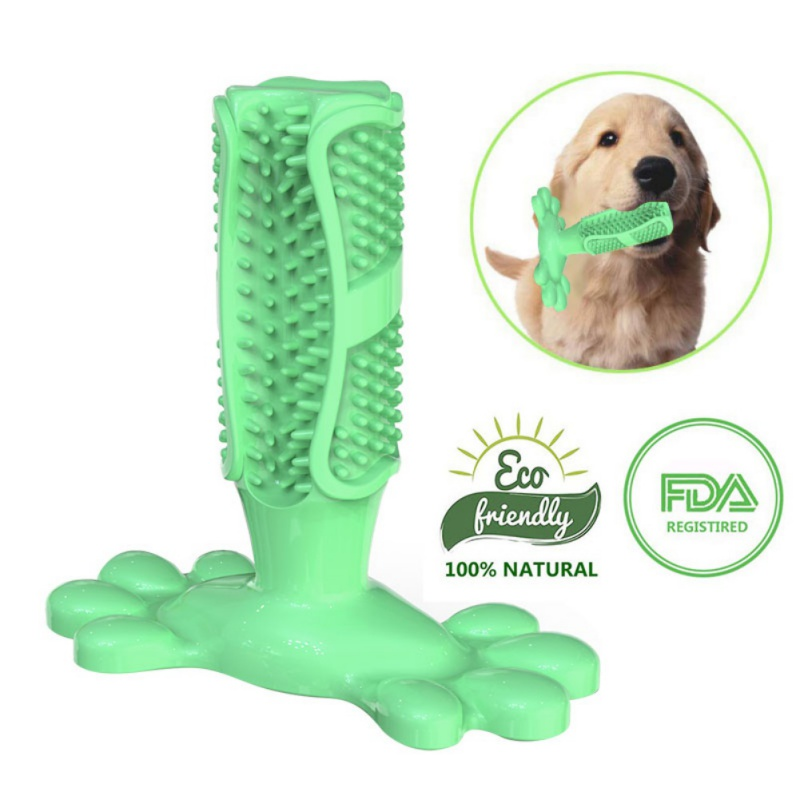 Dog Chew Toy Brush Effective Toothbrush for Dogs Pets Oral Care Dog Brushing Stick Toys for Dogs Teeth Cleaning image
