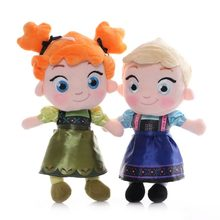30cm Let It Go Princess Anna Elsa Plush Toy Girls Toys Soft Stuffed Pillow Doll Anime Cartoon Character Peluches Dolls Kids Gift(China)