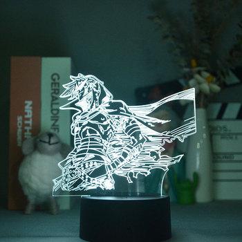 Inteligentny czujnik nocny projektor świetlny LED 3D lampa sypialnia lampka nocna Gurren Lagann Kamina dla dzieci fani Anime prezent kontrola aplikacji tanie i dobre opinie LU QING WEN atmosferyczne Zwierząt CN (pochodzenie) ROHS Lampki nocne Z tworzywa sztucznego Żarówki LED Touch 110 v 12 v