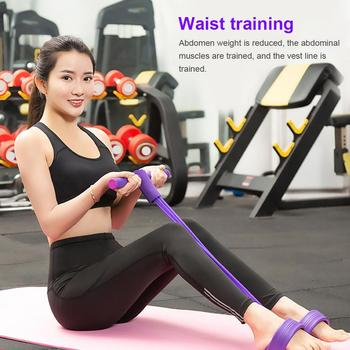 Four-tube Multifunctional Pull Rope Pedal Elastic Rope Leg Puller Abdominal Crunches Footstool pull rope image