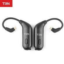 Mới Trn BT20S APT X Bluetooth 5.0 Tai Móc MMCX/2Pin Dây Cáp Tai Nghe Bluetooth Cáp Cho trn V90 V80 BA5 ZST T2 T3 T4 N1