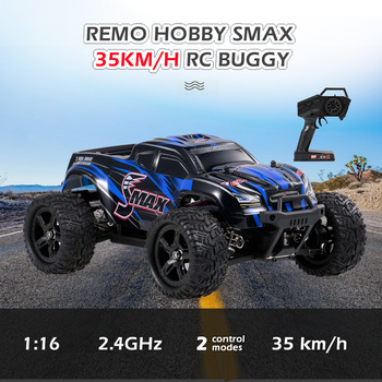 REMO HOBBY 1631 RC Car 35km/h 1/16 2.4 GHz 4WD RC Buggy Truck Racing Big Foot Off Road Car RTR Toys For Kids Adults