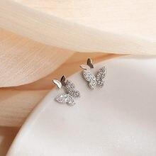 Dominado contratado fina de moda de mariposa de cristal de diseño aretes coreanos mujer joker 2020 pendientes nuevos de la joyería