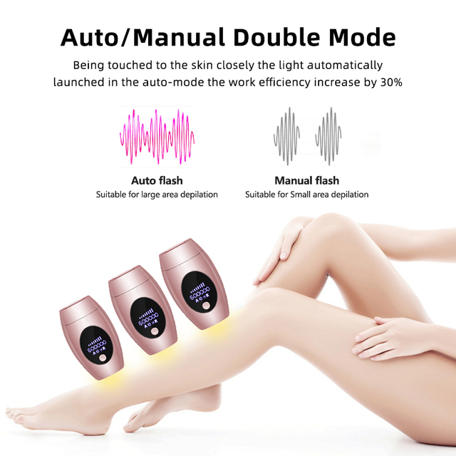 Flash Professional Permanent Laser Epilator LCD Display Laser IPL Hair Removal Machine Photoepilator Painless Depilador