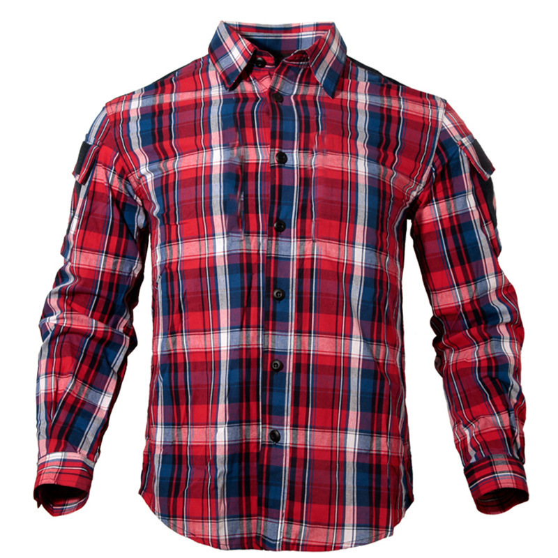 Children's Tactical Shirt Plaid Spring Autumn Outdoors Leisure Climbing Sports Camping Hunting Fishing Boys Girl Kids Clothes