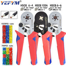 Tubular terminal crimping tools mini electrical pliers HSC8 10SA/6-4 0.25-10mm2 23-7AWG 6-6 0.25-6mm2 high precision clamp sets