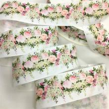 5y 3.8cm cetim fita floral para artesanato artesanal presente flores embalagem páscoa cakebox artesanato festa de casamento deco