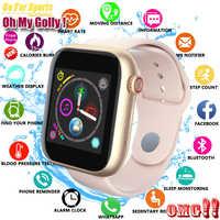 Nuevo reloj inteligente para mujer tarjeta Sim Fitness Bluetooth IOS Android reloj teléfono relojes Cámara reproductor de música WhatsApp reloj inteligente chico