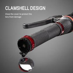 Мини зеркало заднего вида для велосипеда с предупреждение светильник 360 градусов вращающийся для горного велосипеда, руль для шоссейного в...