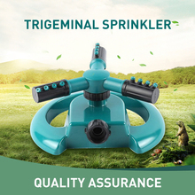 ABS PP Trigeminal Sprinkler 360 Degree Automatic Rotation Portable Inlet Ultrasonic Welding Nozzle Beads