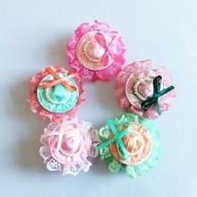 1 Pcs/lot New Fashion Childrens Cute Headwear Lace Hat Hair Clips Cap Hairpins Girls Preal Accessories Women Barrettes