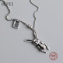 Oufei 925 sterling silver personalized necklace beads chain