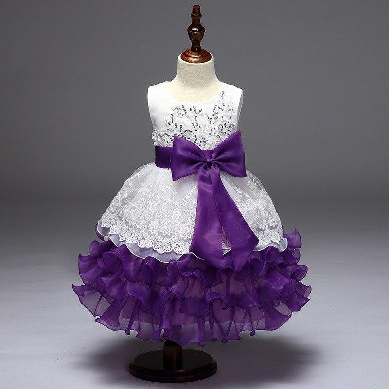Children Wedding Dress Princess Dress Girls Sequin Organza Embroidery Dress Performance Children Shirt Kidsdress