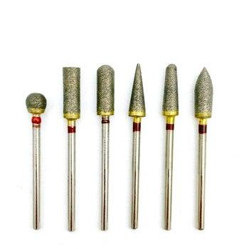 230/270 mallas Fuly-sinterizadas diamante HP pulidora amoladora para pulir taladro de recorte 2,35mm vástago Dental HP pulido Burs