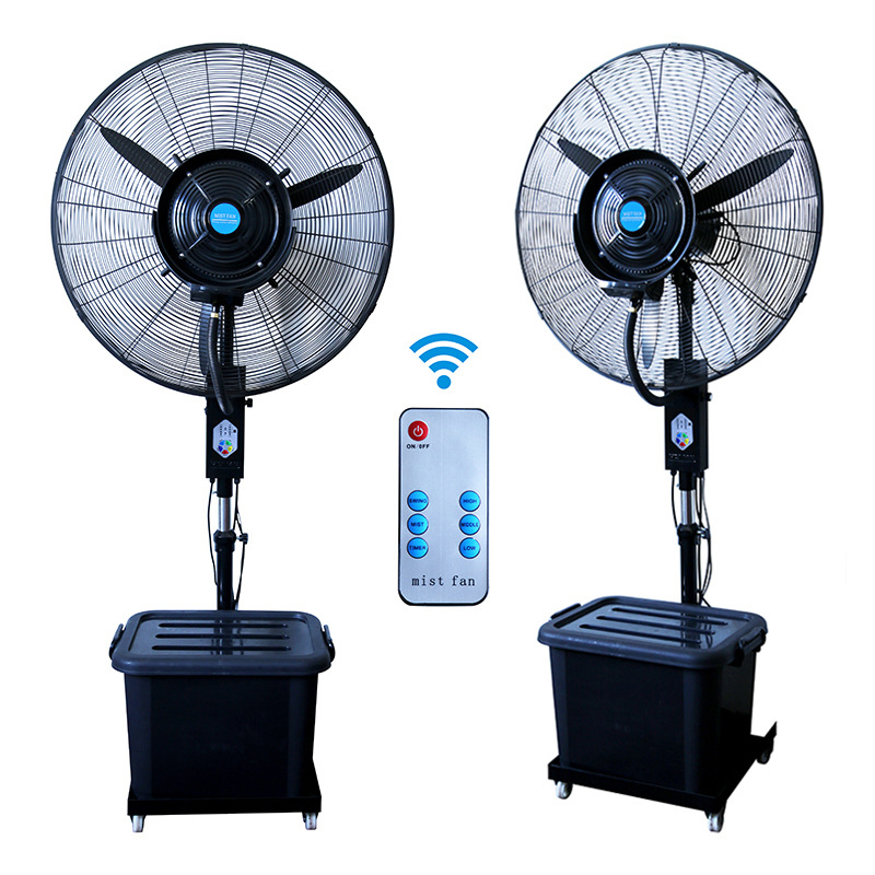 Blue Color : Blue UK Plug Support 3 Speed Control Cooling Fan Sprayeross YHM Multi-Function Mute Spray Humidification Refrigeration Desktop Electric Fan